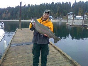 "Kevin Davault-17.3 lb, 33"" Rainbow caught 11/09/13"