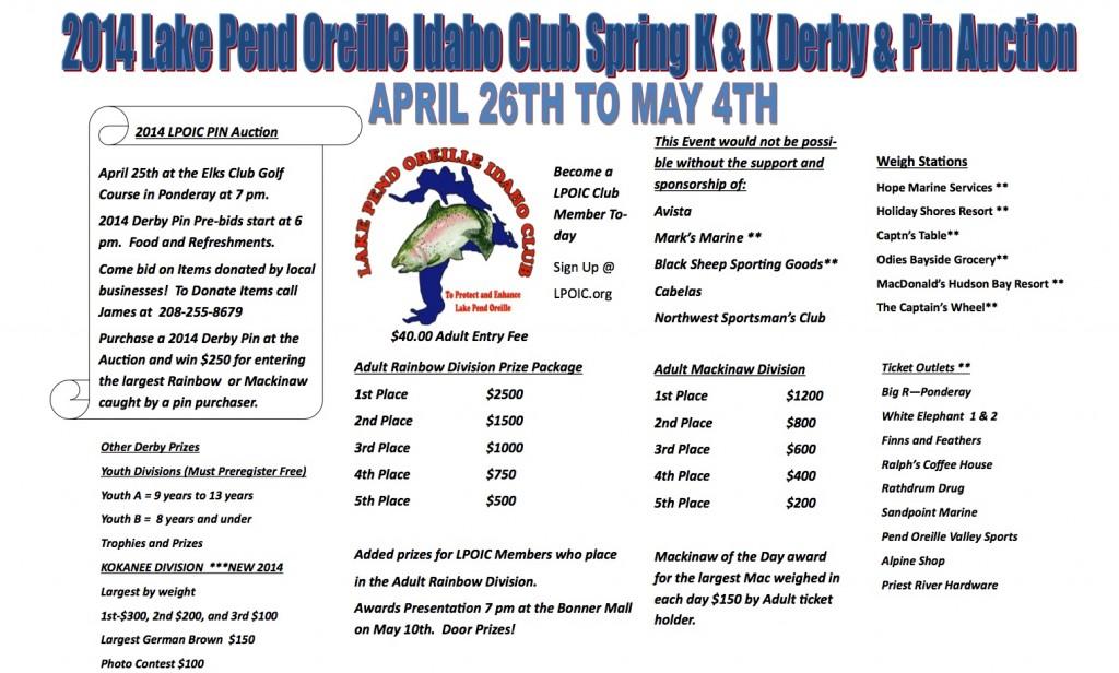 LPOIC K&K 2014 Spring Fishing Derby