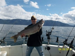Steve Bond with 19lb. Mackinaw