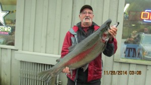 Bert Dennett-Winner-LPOIC Fall K&K Fishing Derby-24.20 lbs. 38.5 inch Rainbow