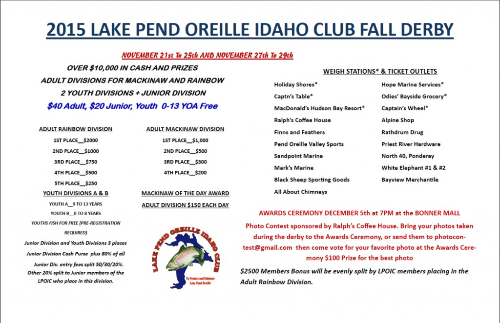 2015 K&K Fall Fishing Derby