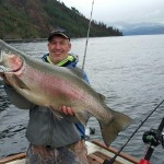Large Rainbow Trout on Lake Pend Oreille